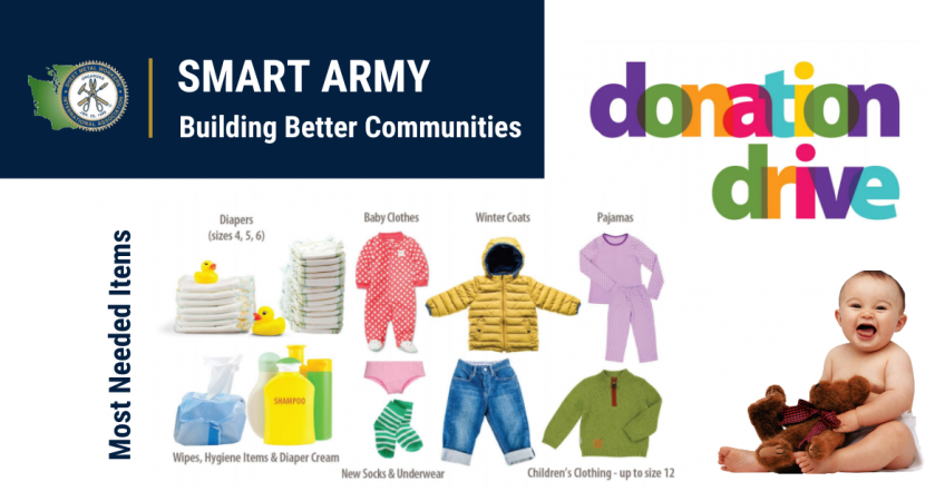 SMART Army Baby Items Donation Drive 2019   SMART Local 66
